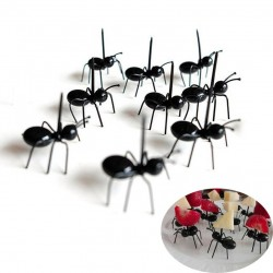 Ant shaped forks for fruit & snacks & desserts 12 pieces