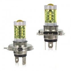 80W - H1 H3 H4 H7 H8 9005 9004 / 4300K LED 2835 - 12V-lamp - gele mistlichten - koplampen - 2 stuks