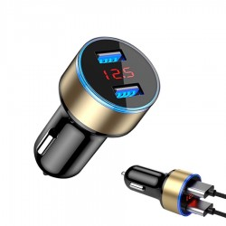 5V 3.1A Universele autolader voor smartphones met dubbele USB en LED