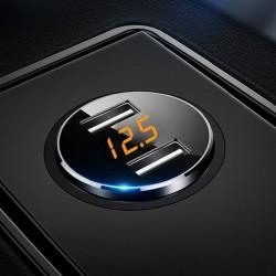 Universele 3.6A dubbele USB-autolader met LED-display
