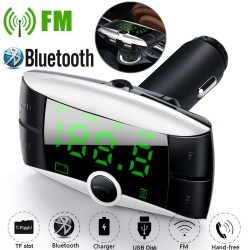 Bluetooth FM transmitter - MP3 player with dual USB charger