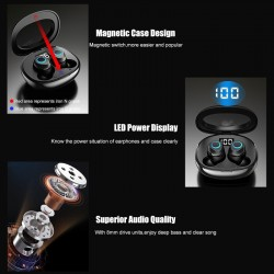 8D 5.0 Bluetooth draadloze oortelefoons - aanraakbediening - handsfree headset