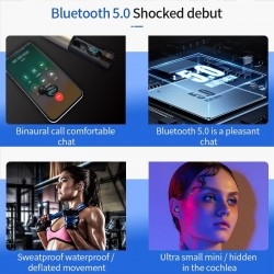 Q67 TWS wireless earbuds - 3D stereo - Bluetooth 5 - dual microphone - waterproof - auto pairing headset