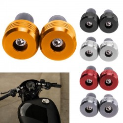 "7/8"" - aluminum motorcycle handlebar grip - end caps"