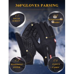 Warm skiing gloves - touch screen function - waterproof