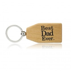 Best Dad Ever & Best Nana Ever - wooden keychain