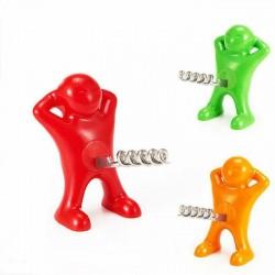 Happy man - wine bottle opener - corkscrew