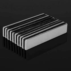 N48 Neodym rechteckiger Magnetblock 50 * 10 * 2 mm 10 Stück