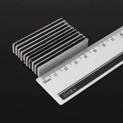 N48 Neodymium rechthoekig magneetblok 50 * 10 * 2 mm 10 stuks