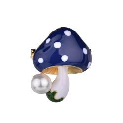 Mushroom with pearl - elegant brooch