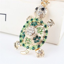 Green crystal turtle - keychain