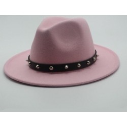 Elegant hat with a brim & rivets