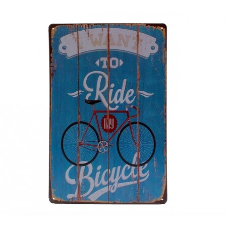I Want To Ride My Bicycle Metalen Poster Bord
