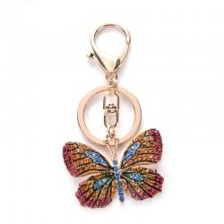 Kristallen vlinder - sleutelhanger
