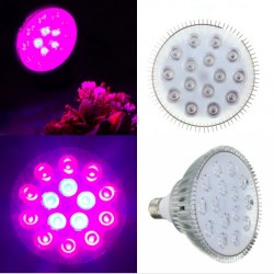 E27 45W LED Plant Grow Light Hydroponic Aluminium |