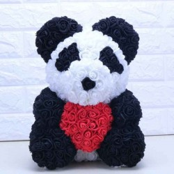 Rose Panda - made of infinity roses
