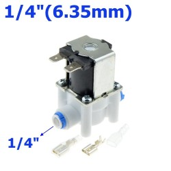 """Plastic solenoid valve - 1/4""""-3/8"""" hose pipe - quick connection to water reverse osmosis system"""