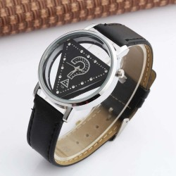 Trend women watches - ladies triangle rhinestone transparent quartz casual wristwatch