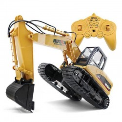 15 channels - 2.4G 1/14 RC excavator - with battery - RTR toy