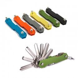 Aluminum alloy keychain - flexible key holder clip - EDC aluminum Key holder clip - keys organizer folder - keys wallet