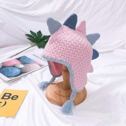 Small dinosaur - handmade winter hat for kids